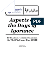Aspects of the Days of Ignorance Before Islam