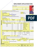 Employment Application Form GAURAV SAINI