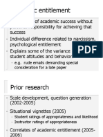 Academic Entitlement - early ideas for behavioral validation