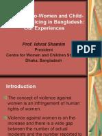 Presentation - Pro-Women and Child-Friendly - Prof. Ishrat Shamim