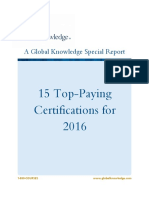 I.T. 2016 Top-Paying Certifications