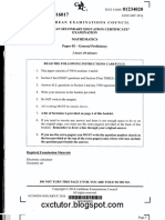 CSEC January 2016 Mathematics Paper 02