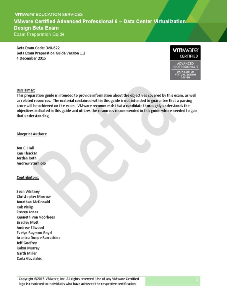 Exam prep guide 3v0 622 v12 v mware business continuity malvernweather Choice Image