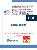 History of HRM