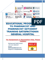 Educational programme to pharmacist and pharmacist students training satisfaction in General Hospital