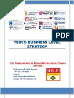 TESCO Business Level Strategy