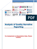 Analysis of Quality Narrative Reporting