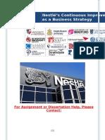 Nestlé's Continuous Improvement as a Business Strategy