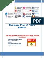 Business Plan of a Newspaper shop