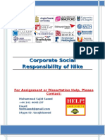 Corporate Social Responsibility of Nike