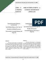 Riscul Angajarii - O Abordare Prin Prisma Regresiei Logistice