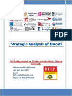 Strategic Analysis of Ducati