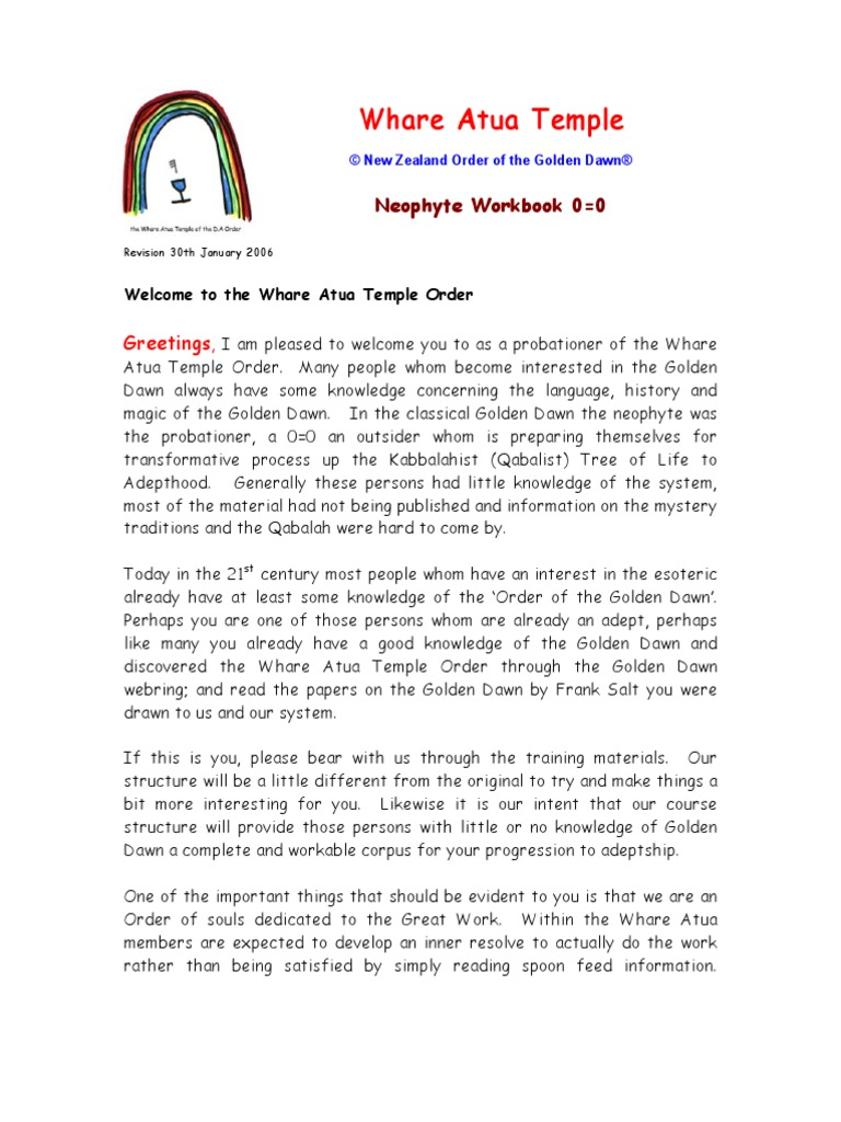 Workbooks bc science 10 workbook : Golden Dawn Neophyte Workbook | Rosicrucianism | Persephone