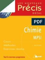 Les Nouveaux Précis Bréal Chimie MPSI