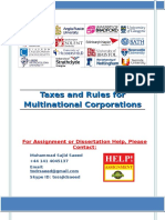 Taxes and Rules for Multinational Corporations