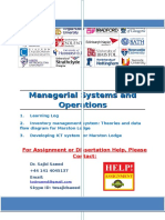 Managerial Systems and Operations