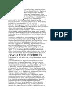 Deficiencies of Coagulation Factors Have Been Recognized