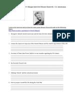 Eleanor Roosevelt Interview (Listening)-1