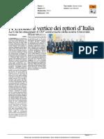 A Urbino il vertice dei Rettori d'Italia - Il Resto del Carlino del 7 aprile 2016