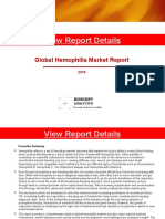Global Hemophilia Market Report