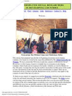 Social Research in Developing Nations