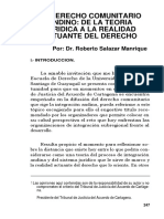 El Derecho Comunitario Andino