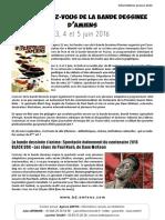 Les Rendez-Vous de la Bande Dessinée d'Amiens, édition 2016