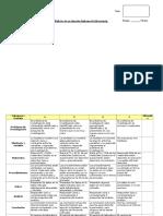Rubrica de Evaluación Informe de Laboratorio