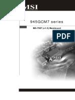 MSI 945GCM7 Series Manual