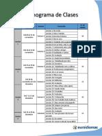 Cronograma Programa