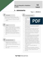 Prova120416ibge - IBGE Tecnologista - Geografia (TEC-GEO) Tipo 1