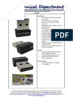 (WU NETA 020 ZI) Wireless N USB Network Adapter
