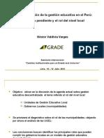 Descentralización de la gestión educativa en el Perú