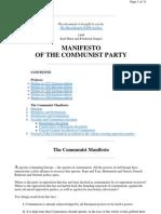 Karl Marx - Manifesto of the Communist Party