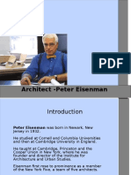 Presentation -Peter Eisenman