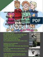 Middle School Writings-I Am