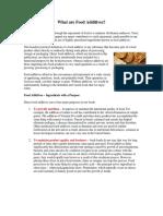 Food Additives Booklet