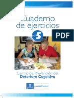 Estimulacion Cognitiva para A M en Domicilio - Cuaderno de Ejercicios N° 5.