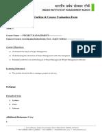 Course Outline Project Management 2016 Rajiv Misra