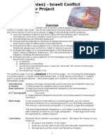 palestinian-israeli conflict position paper - 2016
