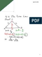 3m 4 4 the sine law