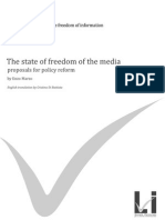 BLUE BOOK - The state of freedom of the media, proposals for policy reform
