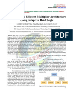 Analysis of an Efficient Multiplier Architecture Using Adaptive Hold Logic