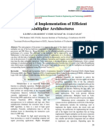Design and Implementation of Efficient Multiplier Architectures