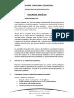 Sílabo Impacto Ambiental Ing. Industrial y de Procesos Abril Agosto 2016
