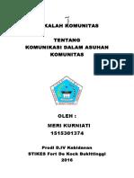MAKALAH  KOMUNITAS