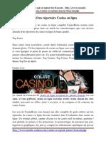 Une Visite Guidée d'Un Répertoire Casino en Ligne