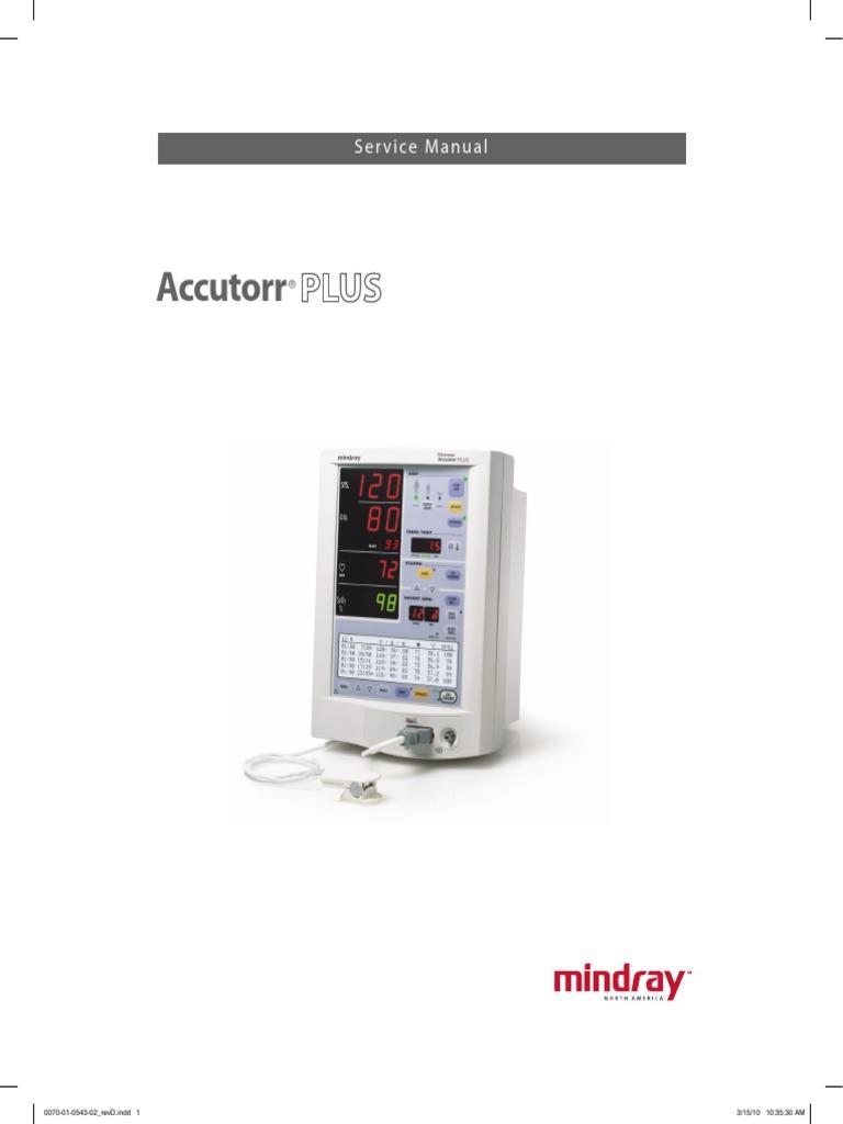 Accutorr Plus - Service Manual | Electrical Connector | Central Processing  Unit