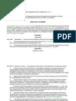 Dar Administrative Order No. 07-11