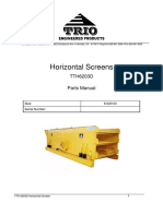 TrioTTH 6203D Horizontal Screen Parts Manual (SN. 226)